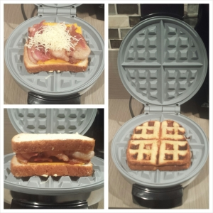 Grilled Cheese in the  waffle maker - Mrs. Dessert Monster