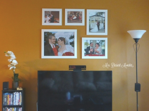 Displaying Wedding Photos - Mrs. Dessert Monster