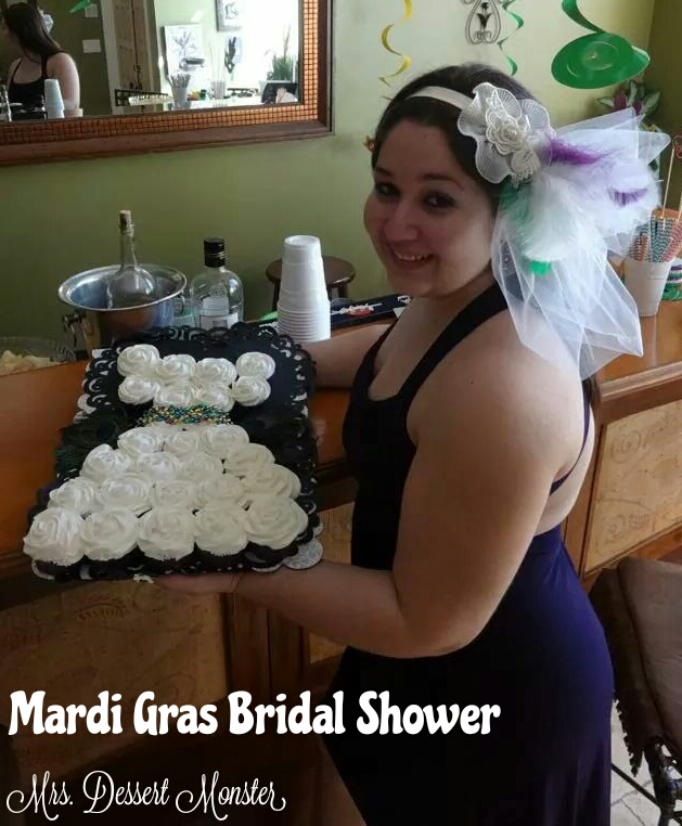 Mardi Gras Bridal Shower Ideas - Mrs. Dessert Monster