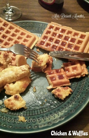 Chicken & Waffles - Mrs. Dessert Monster