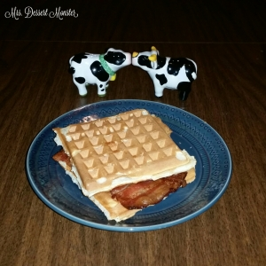 Bacon Waffle Sandwiches - Mrs. Dessert Monster