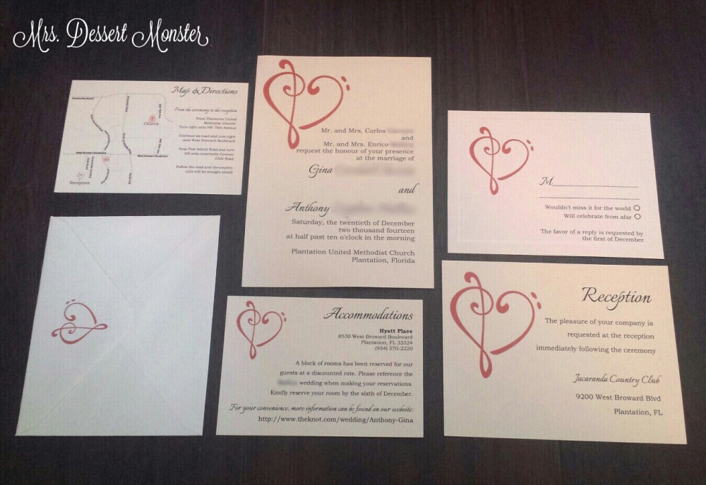 Red & Cream Music Themed Wedding Stationery (3/6)