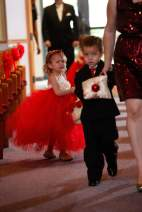 Flower Girl Ring Bearer Christmas Red Wedding