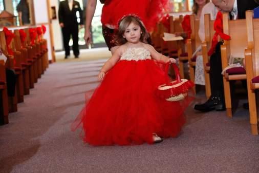 Flower Girl Christmas Red Wedding