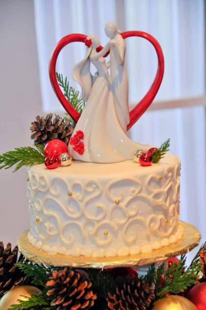 Christmas Red Wedding Cake Topper