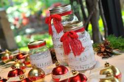 Christmas Red Wedding Centerpiece Mason Jar Sheet Music