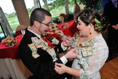 Christmas Red Wedding Money Dance