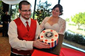 Christmas Red Wedding Grooms Cake