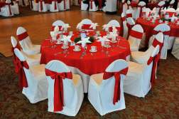 Christmas Red Wedding Table Centerpeice