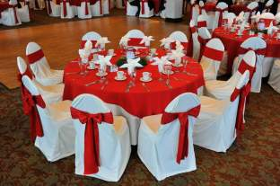 Christmas Red Wedding Table Centerpeice