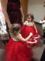 Christmas Red Wedding Flower Girls