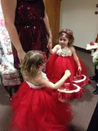 Christmas Red Wedding Flower Girls