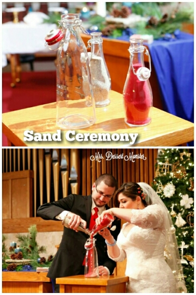 Sand Ceremony Red Beach Wedding Mrs. Dessert Monster