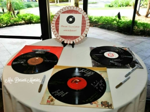 Vinyl Record Wedding Guest Book - Mrs. Dessert Monster