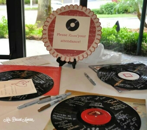 DIY Wedding Signs Record Attendance - Mrs. Dessert Monster