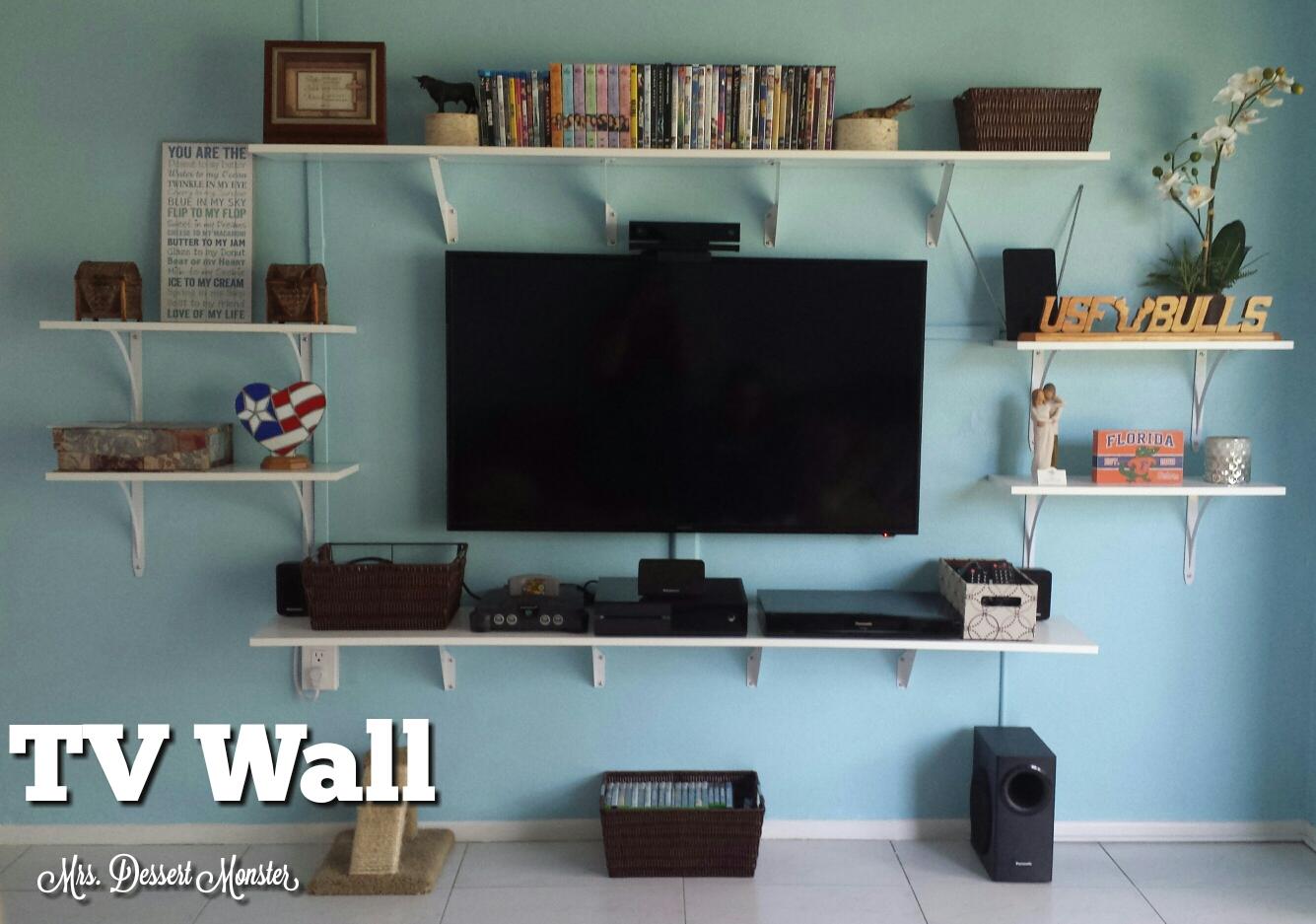our tv wall mrs dessert monster. Black Bedroom Furniture Sets. Home Design Ideas