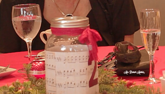 Wedding Wednesday - Christmas Wreath Mason Jar Centerpieces (3/5)
