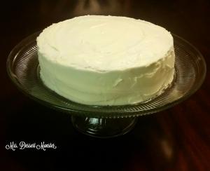 Blueberry Cake with Lemon Buttercream - Mrs. Dessert Monster