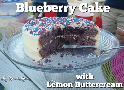 Blueberry Cake with Lemon Buttercream - Mrs. Dessert Monster