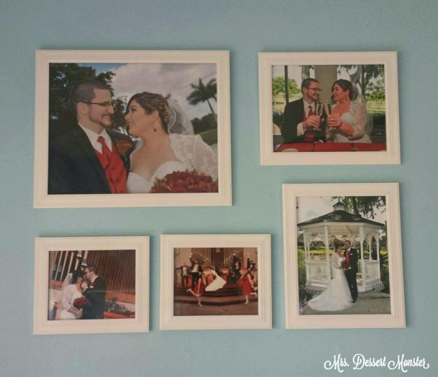 Displaying Wedding Photos - Mrs. Dessert Monster