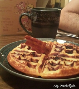 Maple Bacon Waffles - Mrs. Dessert Monster