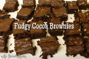 Fudgy Cocoa Brownies - Mrs. Dessert Monster