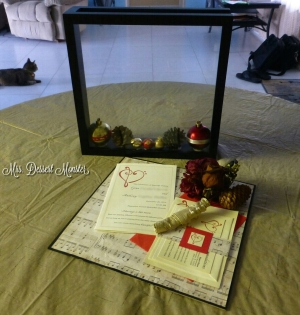 Wedding Shadow Box - Mrs. Dessert Monster
