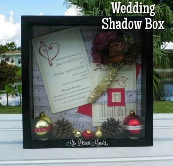Wedding Shadow Box - Mrs. Dessert Monster