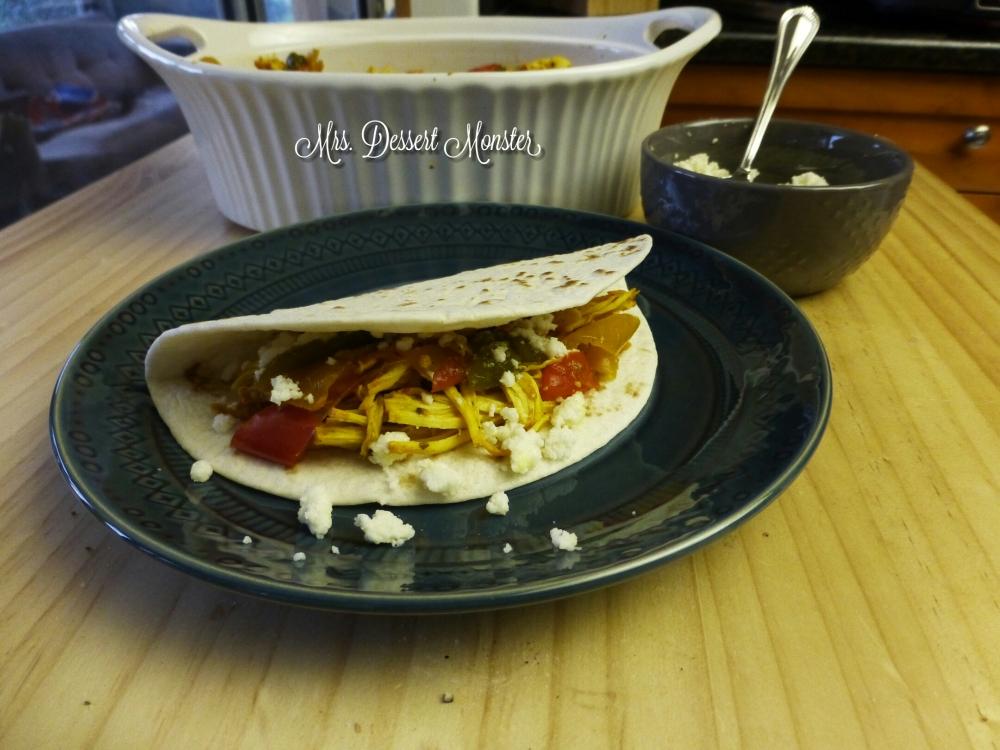 Crockpot Fajitas with Salsa Verde (3/5)