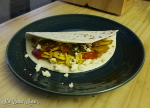Crockpot Fajitas with Salsa Verde - Mrs. Dessert Monster