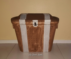 Treasure Chest Out Of Styrofoam Cooler - Mrs. Dessert Monster