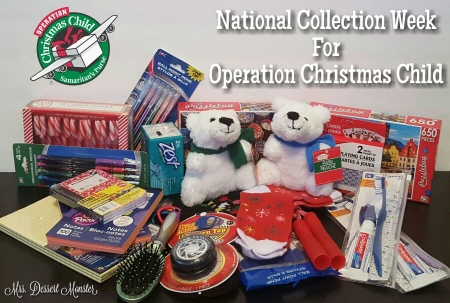 National Collection Week for Operation Christmas Child - Mrs. Dessert Monster