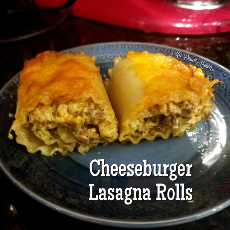 Cheeseburger Lasagna Rolls - Mrs. Dessert Monster