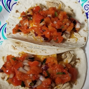 No Tomato Roasted Red Pepper Pico De Gallo - Mrs. Dessert Monster