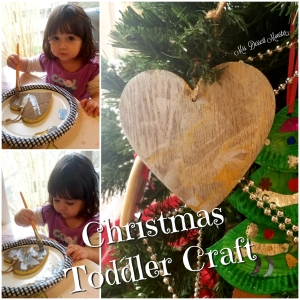Christmas Toddler Craft hand painted wooden ornament - Mrs. Dessert Monster