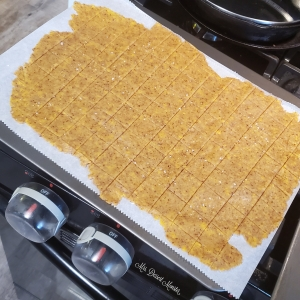 Whole Wheat & Flax Cheezy Crackers - Mrs. Dessert Monster