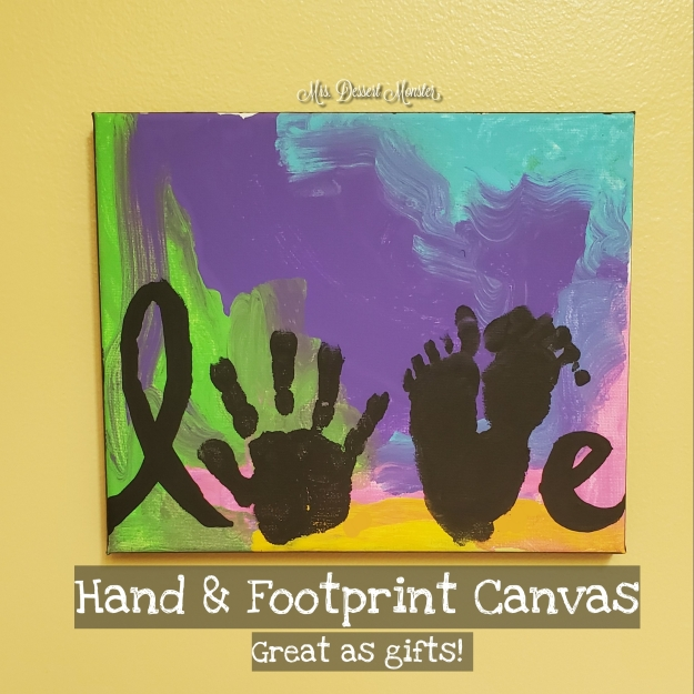Hand & Footprint Canvas Craft - Mrs. Dessert Monster