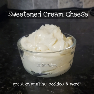 sweetened cream cheese - Mrs. Dessert Monster