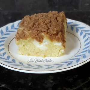 cream cheese stuffed coffee cake with cinnamon streusel - Mrs. Dessert Monster